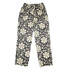 [UNISEX] SCROW ART X LOCO MOSQUITO JINJYA TRIBAL BLACK / IVORY TROUSERS: Alternate View #2