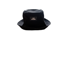 SABAI SABAI EMBROIDERED BUCKET HAT (BLACK / WHITE): Alternate View #2