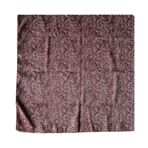 GUY LE TATOOER BURGUNDY SCARF