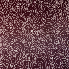 """GUY LE TATOOER X LOCO MOSQUITO"" WAVES BURGUNDY SCARF: Alternate View #2"