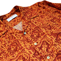 CHE CHO LE TATOOER X LOCO MOSQUITO ORANGE LONG SLEEVE SHIRT: Alternate View #3