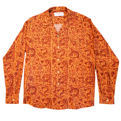 CHE CHO LE TATOOER X LOCO MOSQUITO ORANGE LONG SLEEVE SHIRT: Alternate View #1