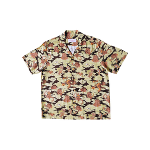 BANGXGANJI YOKAI CAMO BROWN SHIRT FRONT VIEW