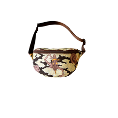 [UNISEX] BANGXGANJI X LOCO MOSQUITO YOKAI CAMO BUM BAG (BROWN / GREEN): Alternate View #1