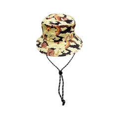 [UNISEX] BANGXGANJI X LOCO MOSQUITO YOKAI CAMO BUCKET HAT (BROWN / GREEN): Alternate View #1