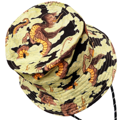 [UNISEX] BANGXGANJI X LOCO MOSQUITO YOKAI CAMO BUCKET HAT (BROWN / GREEN): Alternate View #2
