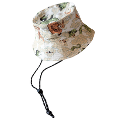 [UNISEX] BANGXGANJI X LOCO MOSQUITO YOKAI CAMO BUCKET HAT (WHITE / GREEN): Alternate View #2