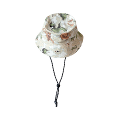 [UNISEX] BANGXGANJI X LOCO MOSQUITO YOKAI CAMO BUCKET HAT (WHITE / GREEN): Alternate View #1