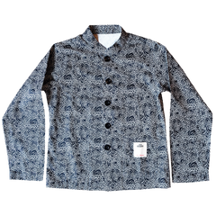 """GUY LE TATOOER X LOCO MOSQUITO"" ALLOVER BLACK WAVES WOMENS SHIRT JACKET: Alternate View #1"