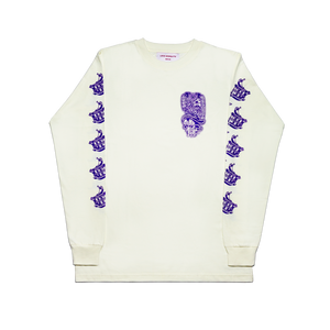 LOCO MOSQUITO VIOLET LOGO LONG SLEEVE T-SHIRT FRONT VIEW