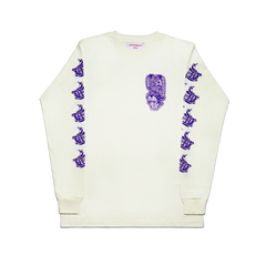 LOCO MOSQUITO LOGO LONG SLEEVE T-SHIRT (VIOLET): Alternate View #1