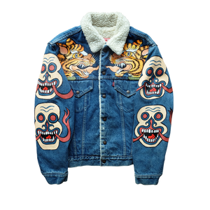 HANDPAINTED MAHAKALA JACKET FRONT VIEW