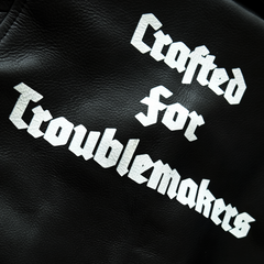 "LEATHER JACKET ""CRAFTED FOR TROUBLEMAKERS"": Alternate View #5"