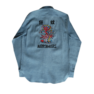 MERRYMAKERS CHAMBRAY BACK VIEW