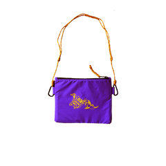 SABAI SABAI NYLON SLING POUCH BAG (PURPLE / YELLOW): Alternate View #2