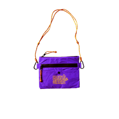 SABAI SABAI NYLON SLING POUCH BAG (PURPLE / YELLOW): Alternate View #1