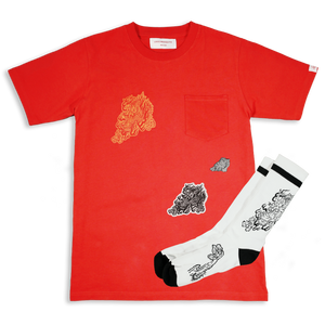 GUY LE TATOOER X LOCO MOSQUITO DRAGON T-SHIRT SET (FRONT)