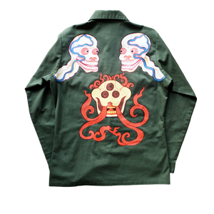 SKULL MILITARY SHIRT BACK VIEW