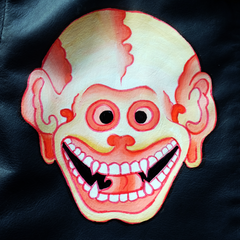 HANDPAINTED SKULL WORKERS JACKET: Alternate View #4