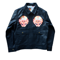 HANDPAINTED SKULL WORKERS JACKET: Alternate View #1