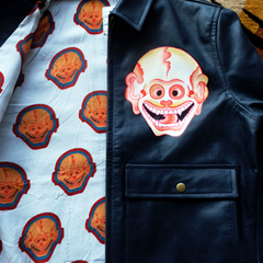 HANDPAINTED SKULL WORKERS JACKET: Alternate View #3