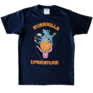 GUERRILLA OPERATORS NAVY T-SHIRT FRONT VIEW