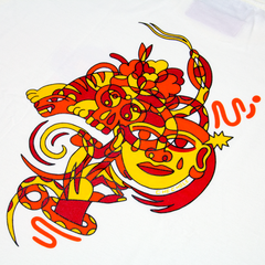 [UNISEX] CHE CHO LE TATOOER X LOCO MOSQUITO TRIPPY PRINT T-SHIRT: Alternate View #3