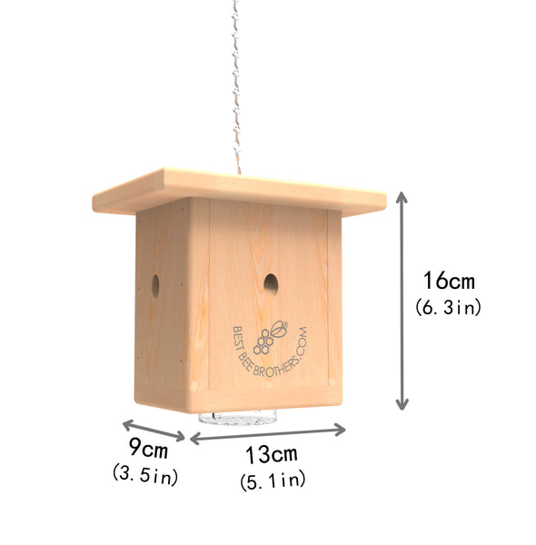 Pine Wood Bee Box Trap Dimensions | Best Bee Brothers