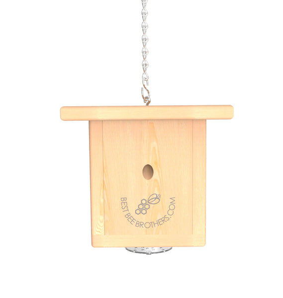 Pine Wood Bee Box Trap Front View | Best Bee Brothers
