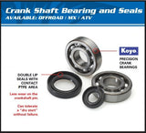 All Balls Racing Crank shaft Bearing Kit Honda CRF50 24-1031 - MotoTriad - 2
