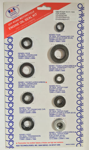 K&S Engine Oil Seal Kit Honda CR85 51-1003 - MotoTriad