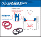 All Balls Racing Fork and Dust Seal Kit Honda CRF100 56-101 - MotoTriad - 2