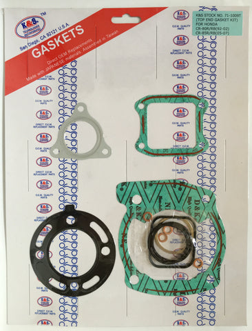 K&S Top End Engine Gasket Kit Honda CR85 71-1009T - MotoTriad