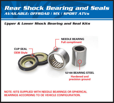 All Balls Racing Upper Rear Shock Bearing Kit 29-5055 for Honda