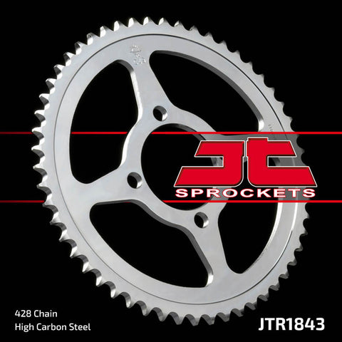 Yamaha TTR125 2002-2009 Rear Steel Sprocket JT Sprockets JTR1843 - MotoTriad