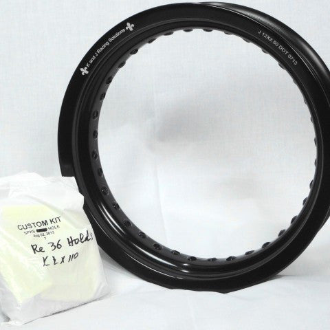 "Kawasaki KLX110 Rear Rim and Spoke Kit 12"" x 2.5"" GatorRimz K&J Racing - MotoTriad"