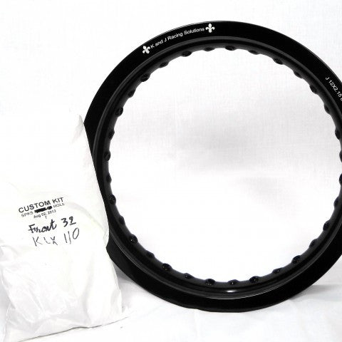 "Kawasaki KLX110 Front Rim and Spoke Kit 12"" x 2.15"" GatorRimz K&J Racing - MotoTriad"