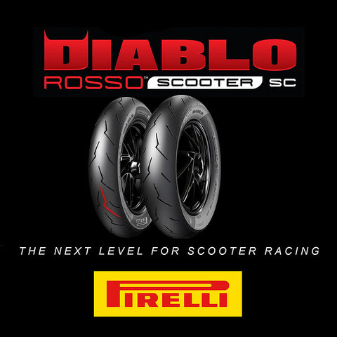 Pirelli Diablo Rosso Scooter SC Race Tire Set 100/90-12 & 120/80-12