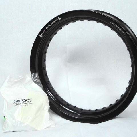 "Yamaha TTR125 Rear Rim and Spoke Kit 12"" x 2.5"" GatorRimz K&J Racing - MotoTriad"