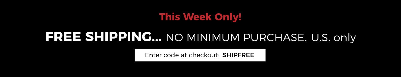 Free shipping with U.S. orders over $25