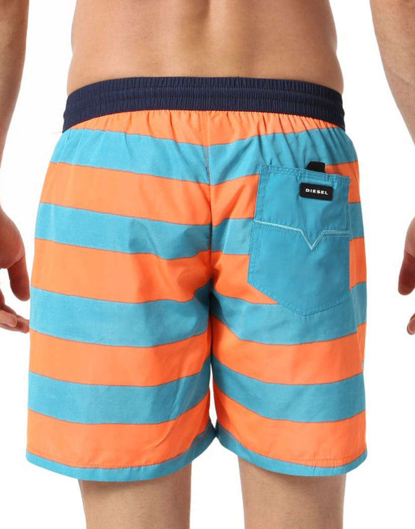Turquoise/Orange Stripe Back Diesel Wave Swim Boxer