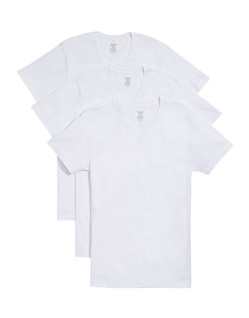 White Front 2xist Men's 3-Pack Essential V-Neck T-Shirts 020331