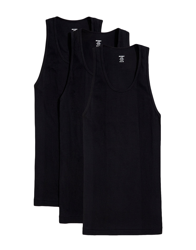 Black Front 2xist Men's 3-Pack Essential Range Tank Tops 020336