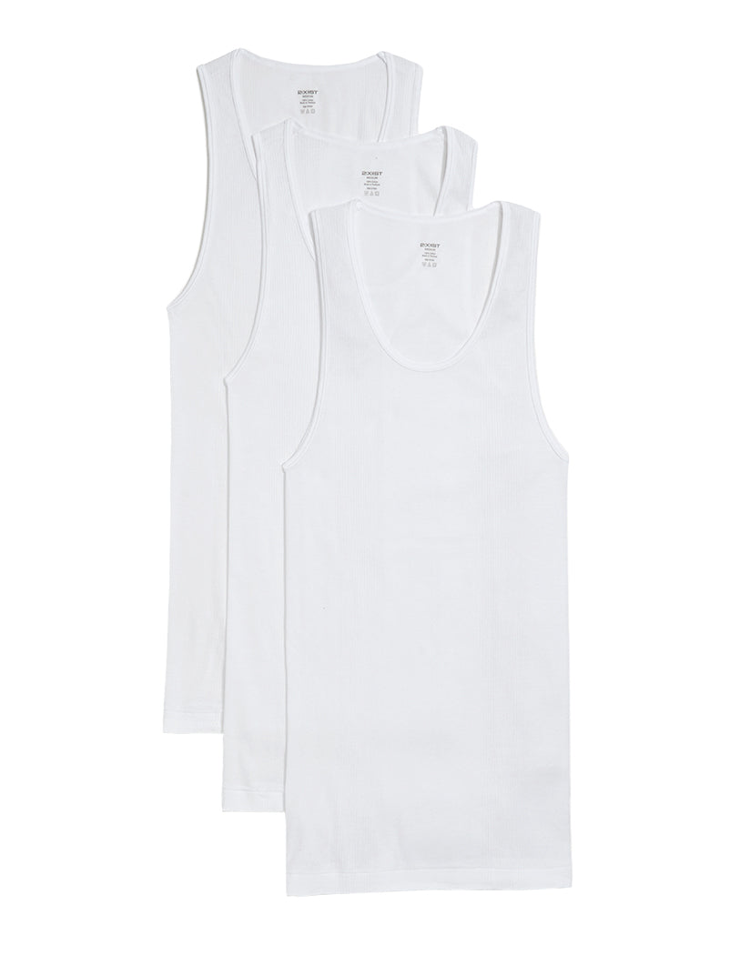 White Front 2xist 3-Pack Essential Range Tank Tops