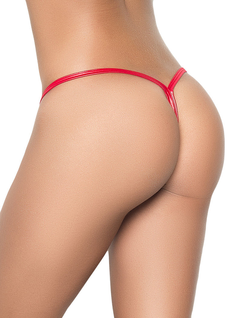 Wet Look Red Back Mapale Y-Back G-String 1048