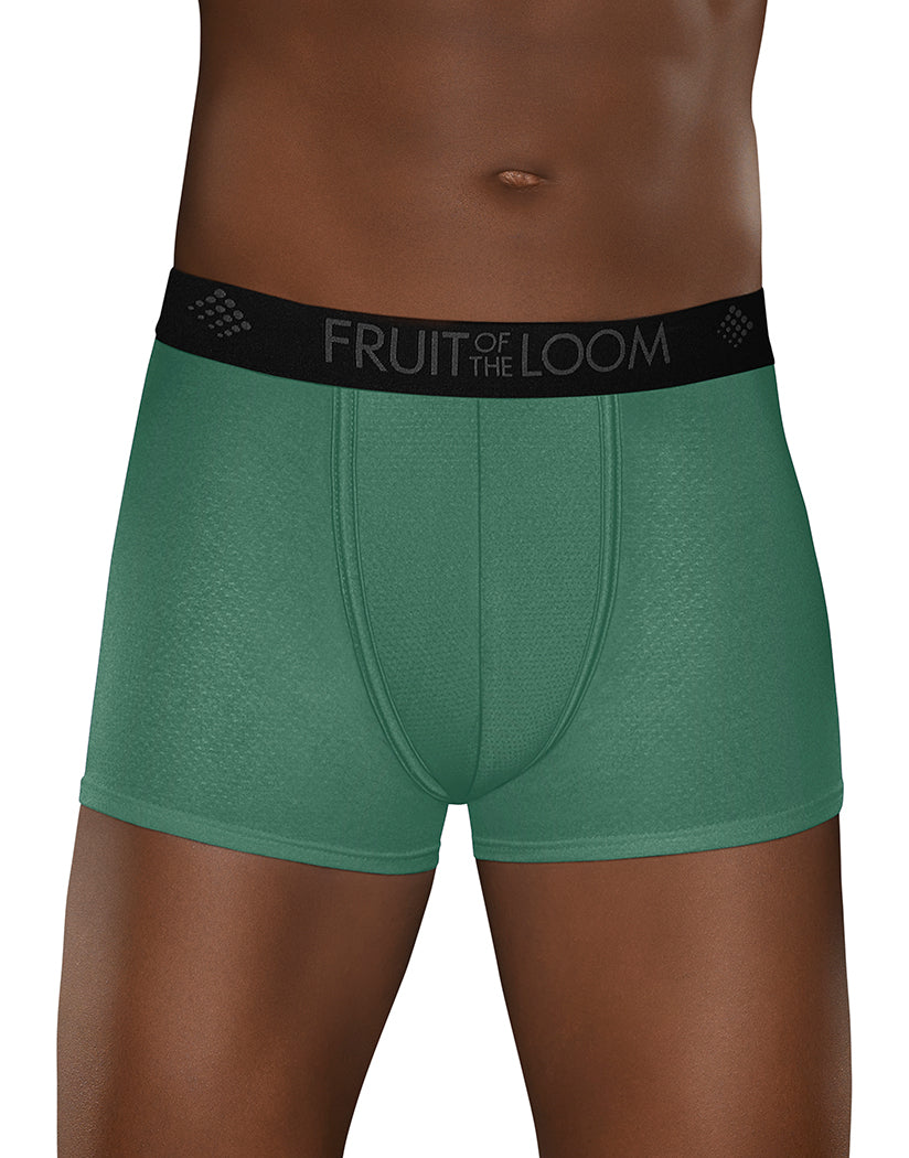Assorted Front Fruit of The Loom 3 Pack Breathable Lightweight Mircro Mesh Short Leg Boxer Brief BW3SL7C