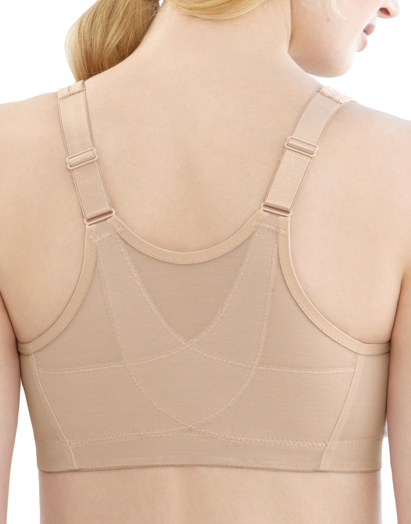 Cafe Back Glamorise Women's Magic Lift Front Close Posture Back Bra Cafe - 1265