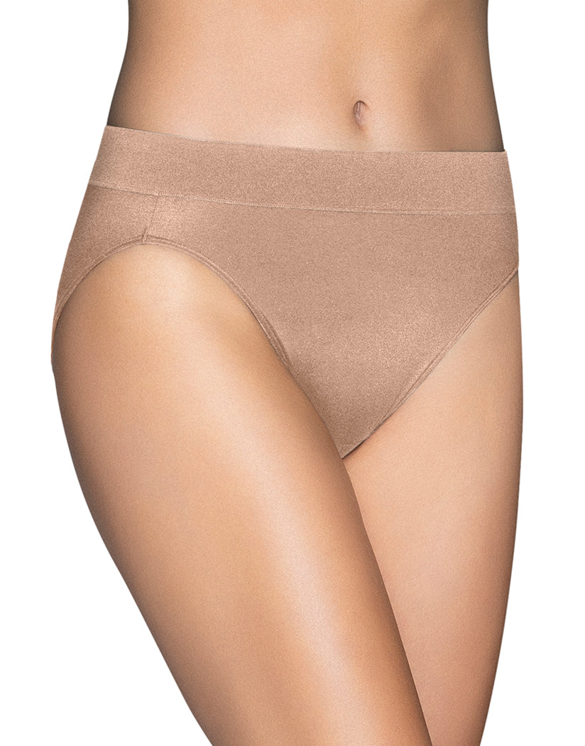 Honey Beige Front Vanity Fair Beyond Comfort Hi-Cut Brief 13212