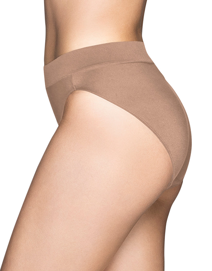 Honey Beige Side Vanity Fair Beyond Comfort Hi-Cut Brief 13212