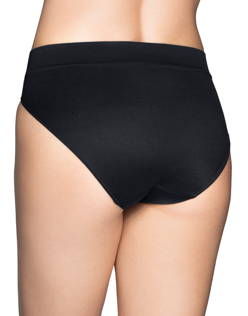 Midnight Black Back Vanity Fair Beyond Comfort Hi-Cut Brief 13212